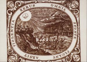 Emblem Comenius Omnia sponte fluant, absiit violentia rebus