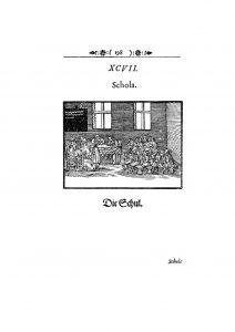 Orbis Sensualium Pictus Schola Die Schul