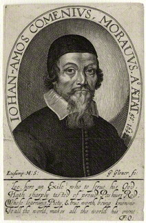 Portrait by George Glover, line engraving, mid 17th century
